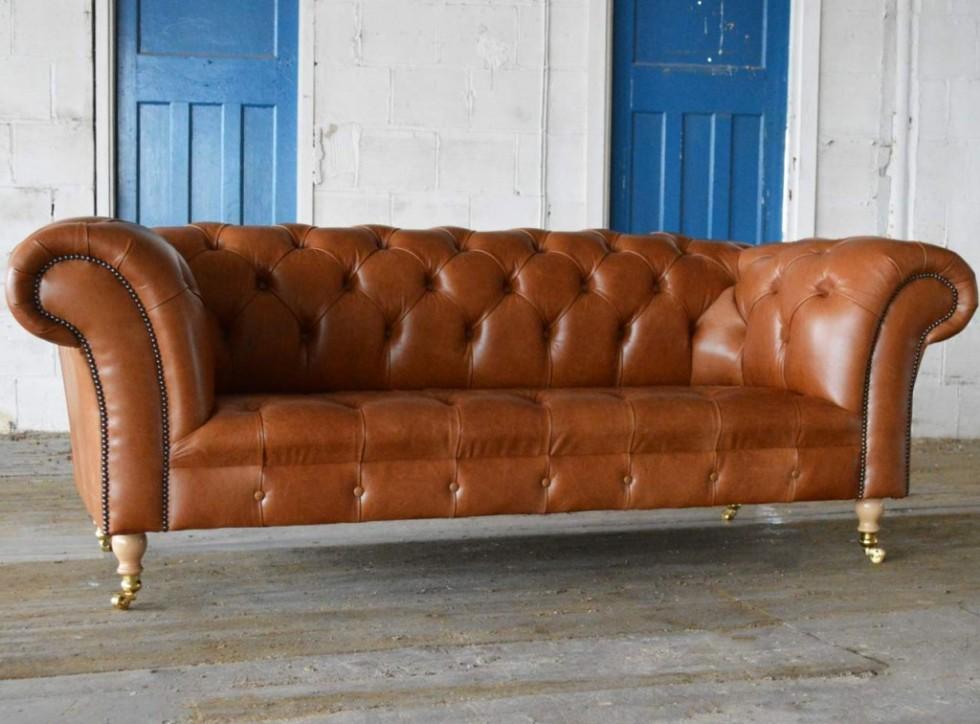 Kodu: 9914 - 1930-leather-chesterfield-sofa