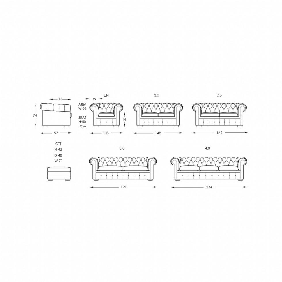 Kodu: 13246 - Chesterfield Kanepe Şık Tasarım