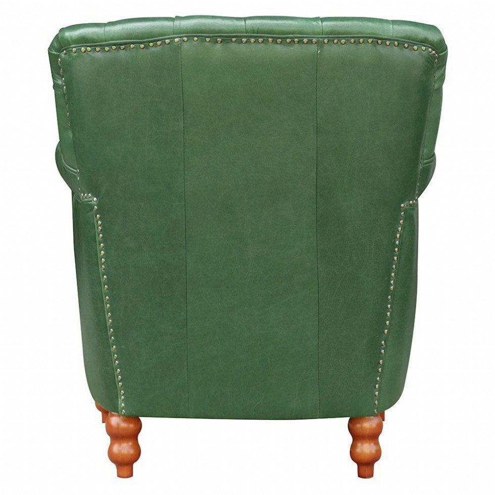 Kodu: 12871 - Deri Koltuk Modern Berjer Koltuk Yeşil Renk Gerçek Deri
