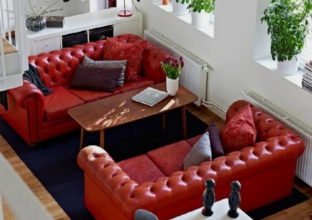 Hakiki Deri Berjer Koltuk Modelleri Chester Sofa