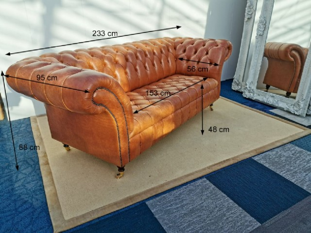 İtalyan Model Chesterfield Kanepe Tasarım