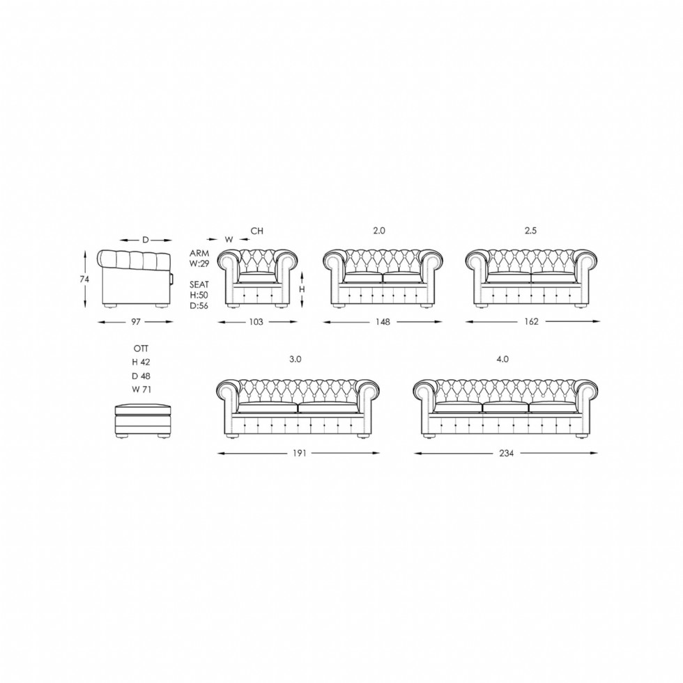 Kodu: 13245 - İtalyan Model Chesterfield Kanepe Tasarım