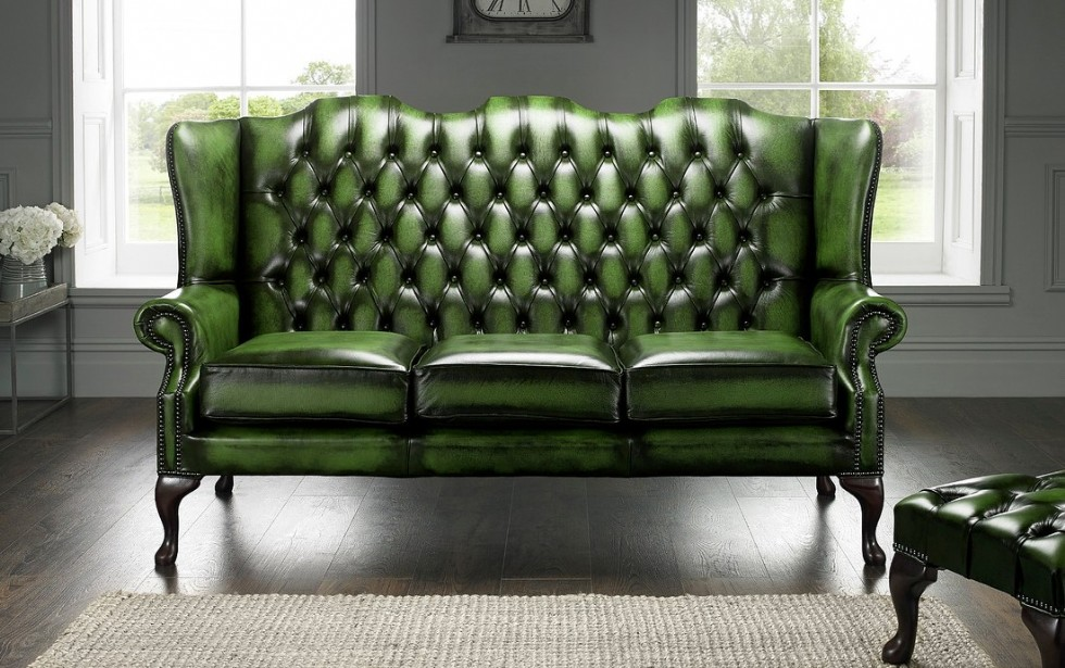 Kodu: 7329 - Klasik Chester Koltuk Hakiki Deri Yeşil