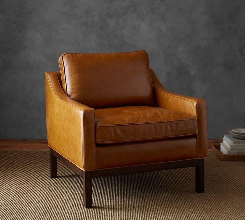Kodu: 8540 - Leather Wing Chair