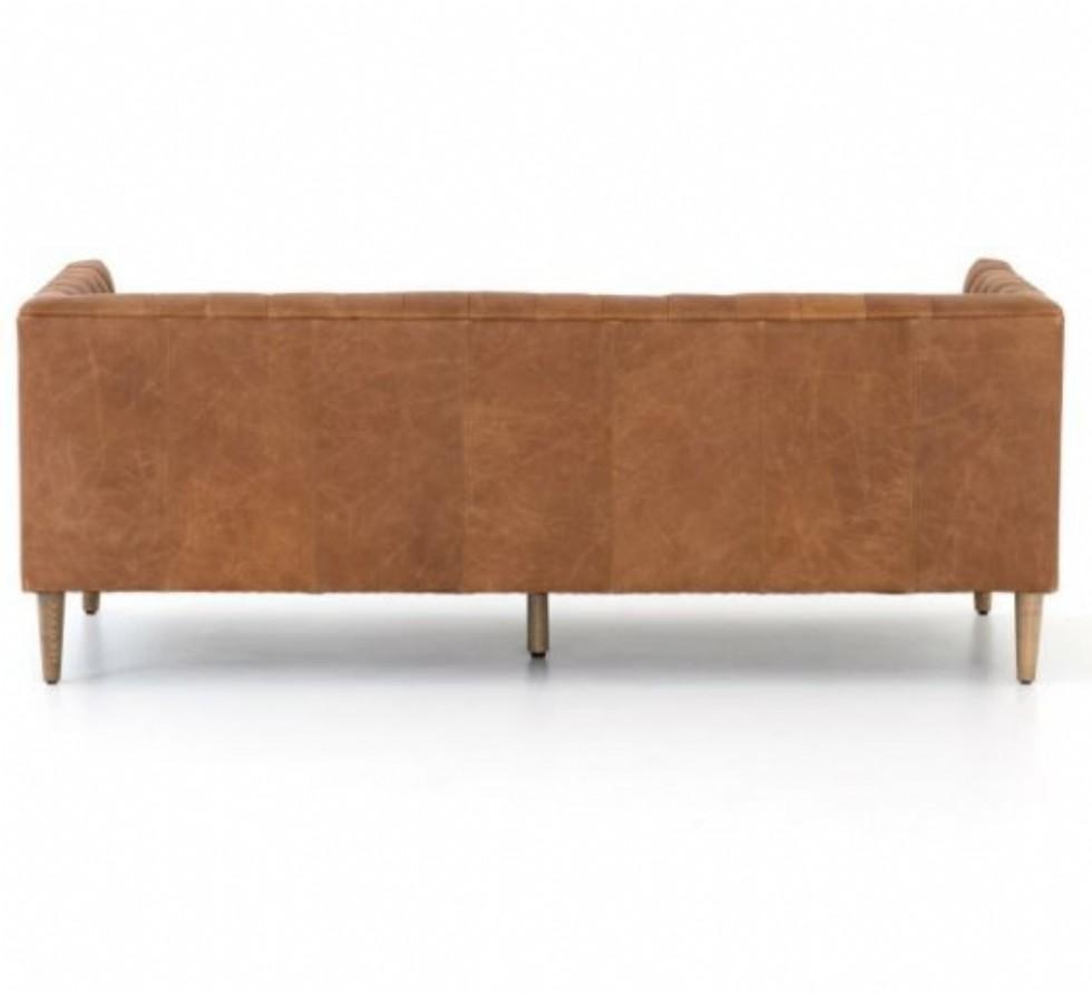 Kodu: 15310 - Modern Chester Deri Kanepe Modeli Kahverengi Gerçek Deri