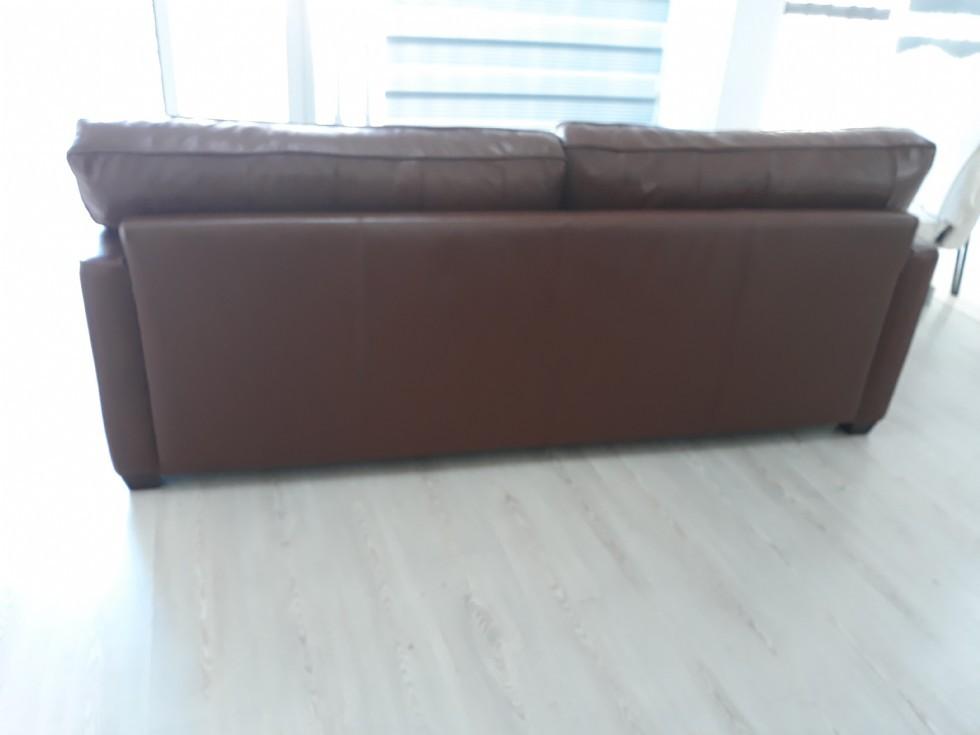 Kodu: 9441 - Modern Gerçek Deri Koltuk Boyama, Mudo Modern Gerçek Deri Kanepe Modeli