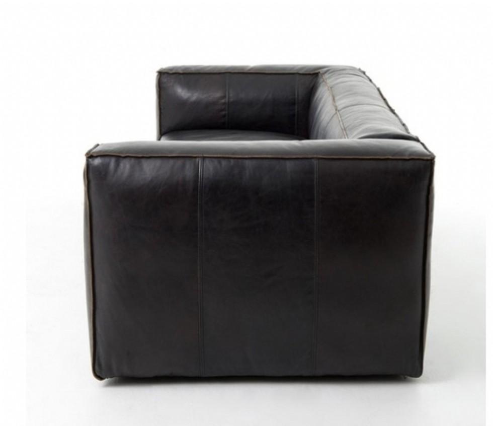 Kodu: 9247 - Modern Gerçek Deri Koltuk Siyah Gerçek Deri Kanepe Modeli