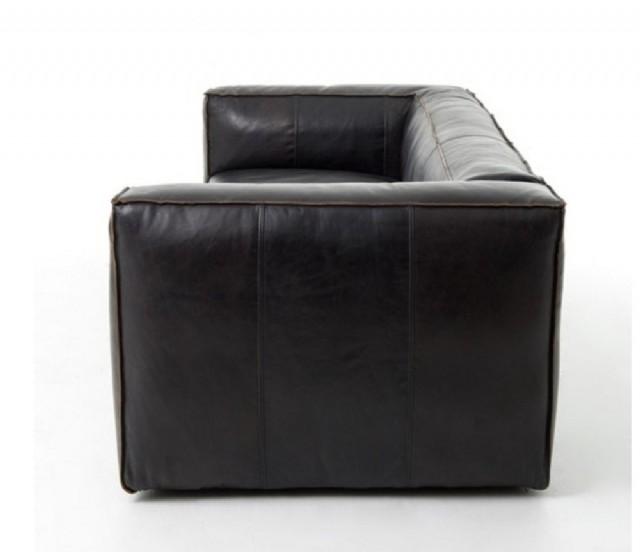 Modern Gerçek Deri Koltuk Siyah Gerçek Deri Kanepe Modeli
