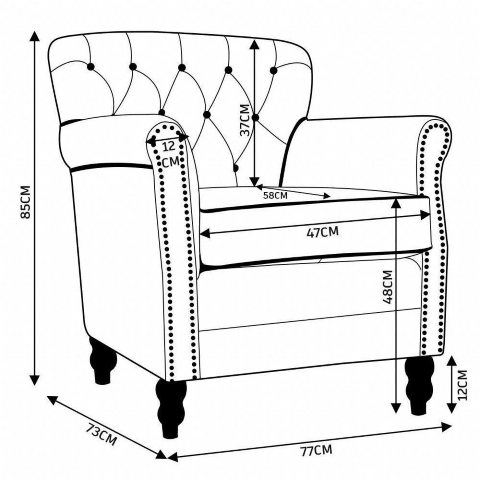 Kodu: 12855 - Taba Renk Dekoratif Deri Berjer Vıntage Modeli