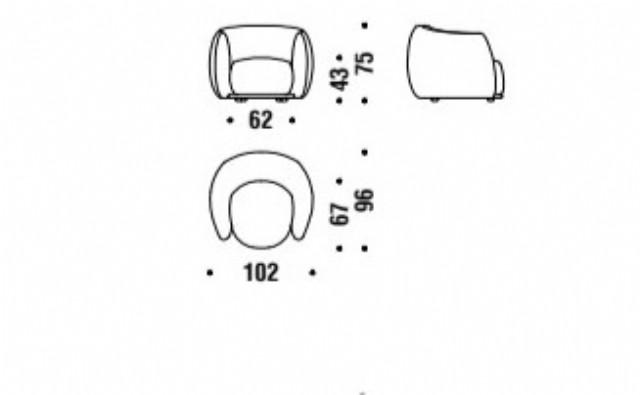 Tekli Koltuk Dekoratif Ürün Dönerli Berjer Modeli