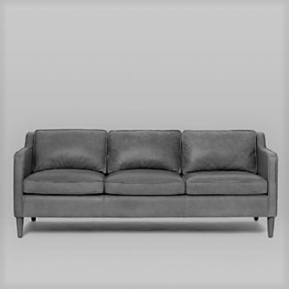 Kodu: 14231 - Üç Kişilik Kanepe Modeli Siyah Renk Deri