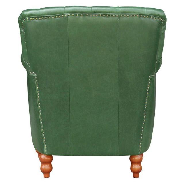 Deri Koltuk Modern Berjer Koltuk Yeşil Renk Gerçek Deri