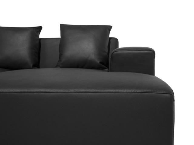 Köşe Koltuk Modeller Siyah Renk Gerçek Deri