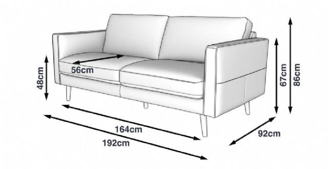 Modern Gerçek Deri Üç Kişilik Kanepe Modeli
