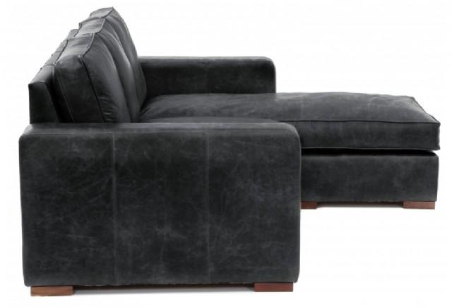 Modern Köşe Deri Koltuk Takımlar Siyah Renk Tasarım
