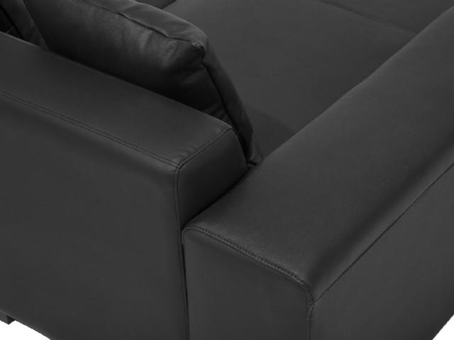 Siyah Renk Köşe Koltuk Sabit Oturum Modern Takım