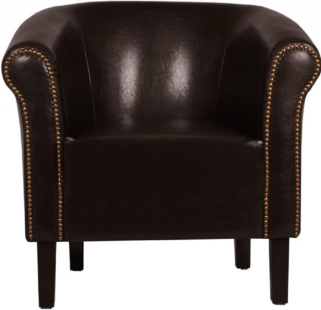 Vıntage Tekli Klasik Koltuk Siyah Renk Deri