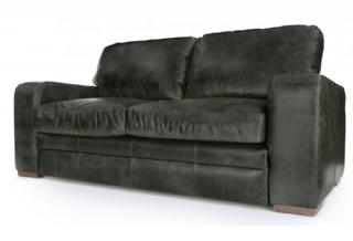 Deri Modern Koltuk Takımlar İki Kişilik Kanepe Modeli Siyah Renk